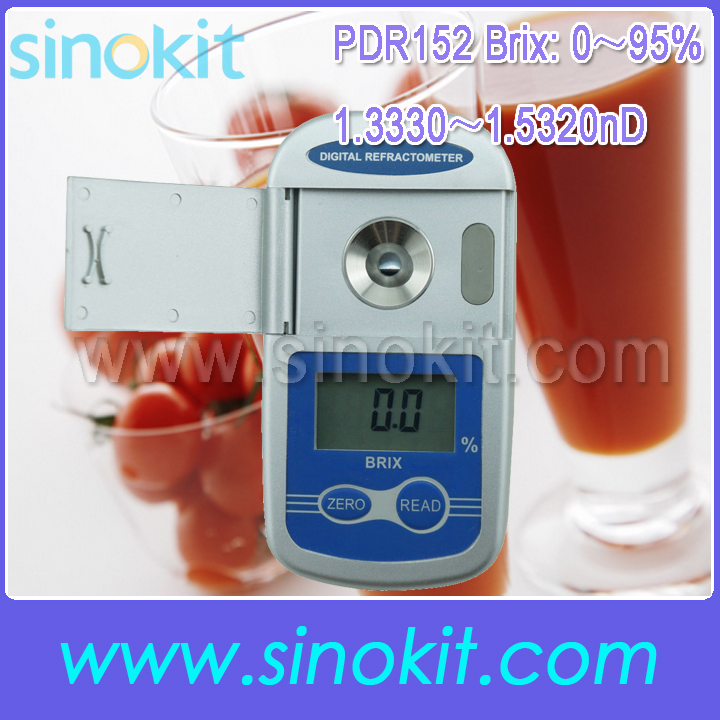 Free Shipping Pocket 0-95% Brix and 1.3330-1.5320nD Hand-held Digital Refractometer - PDR152 aulonstrollers can sit lie lightweight portable folding baby four summer and winter pocket umbrella stroller free shipping