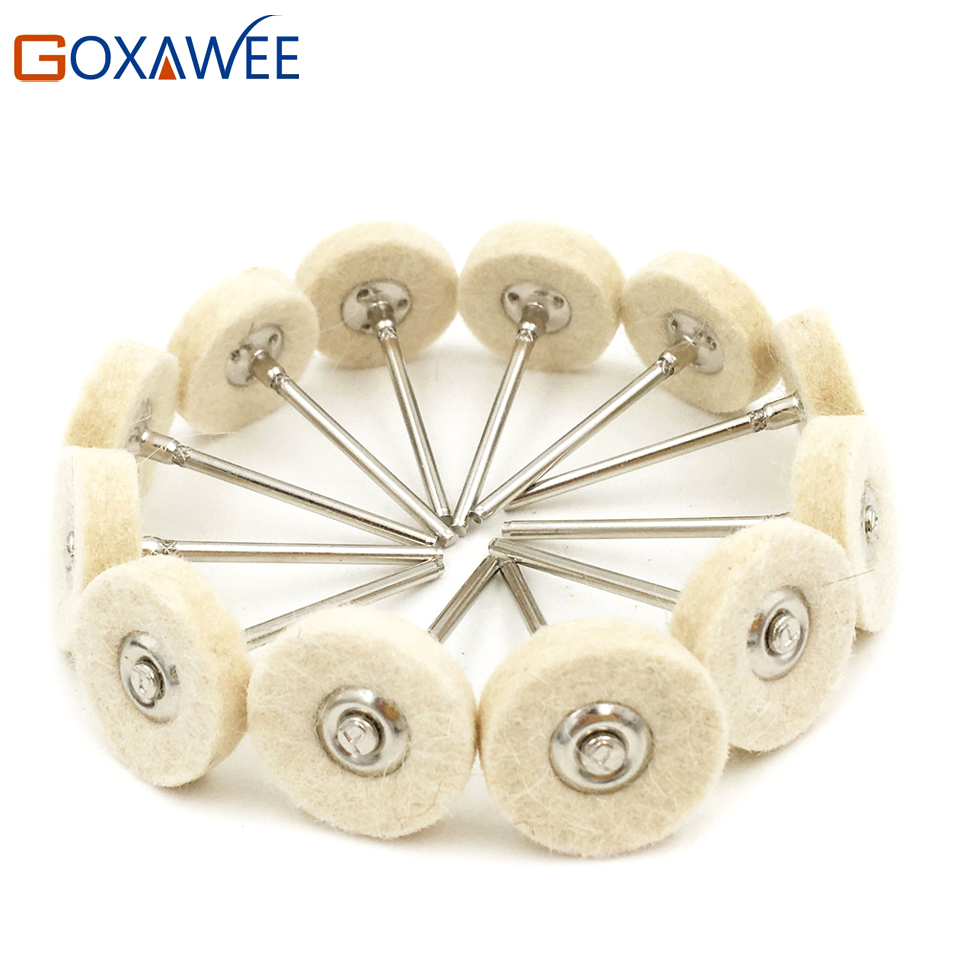 12pcs Felt Mounted Abrasive Polishing Wheel for Dremel Rotary Tools Accessories Abrasive Brush Wood Metal Glass
