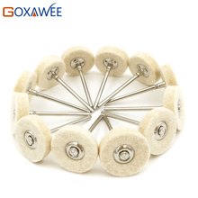 12pcs Felt Mounted Abrasive Polishing Wheel for Dremel Rotary Tools Accessories Abrasive Brush Wood Metal Glass Polishing Brush