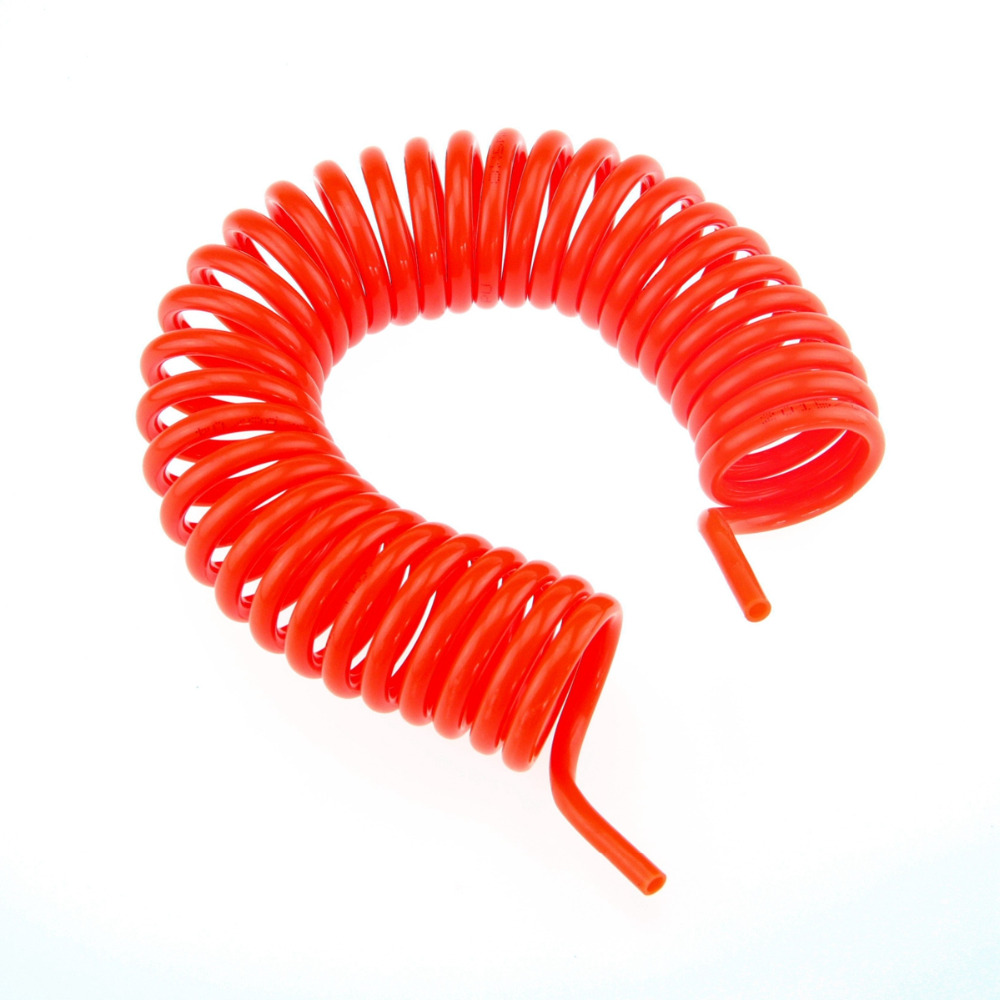 ФОТО PU tube pneumatic hose OD12mm ID8mm Polyurethane Spiral 15M Spring tube Red  Without connectors