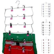6 ярусные вешалки для юбок брюк органайзер шкафа металлические