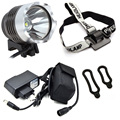Rechargeable LED Bike Light Cycling Headlight CREE XM-L T6 1200 Lumens 3-mode Flash Light 3-4 Hours Duration 8.4V Battery Pack