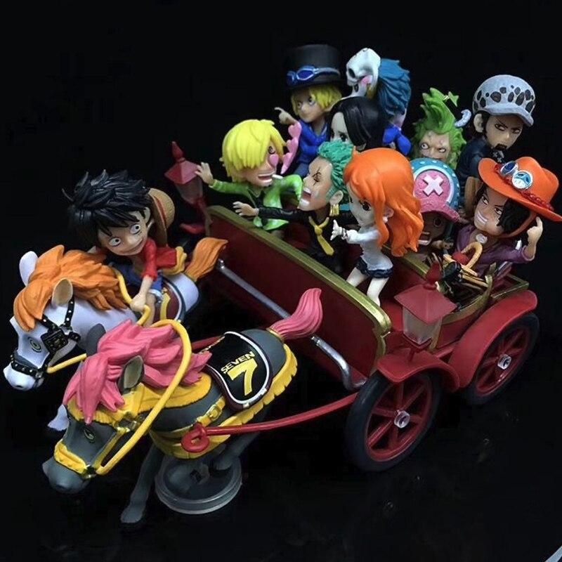 Anime One Piece Luffy Nami Zoro Sanji Chopper Ace Sabo Law Hancock 20th Anniversary Carriage Ver. PVC Figures Toys anime one piece super new stars 7pcs set luffy zoro eustass kid hawkins x drake trafalgar law jewelry bonney pvc figures toys