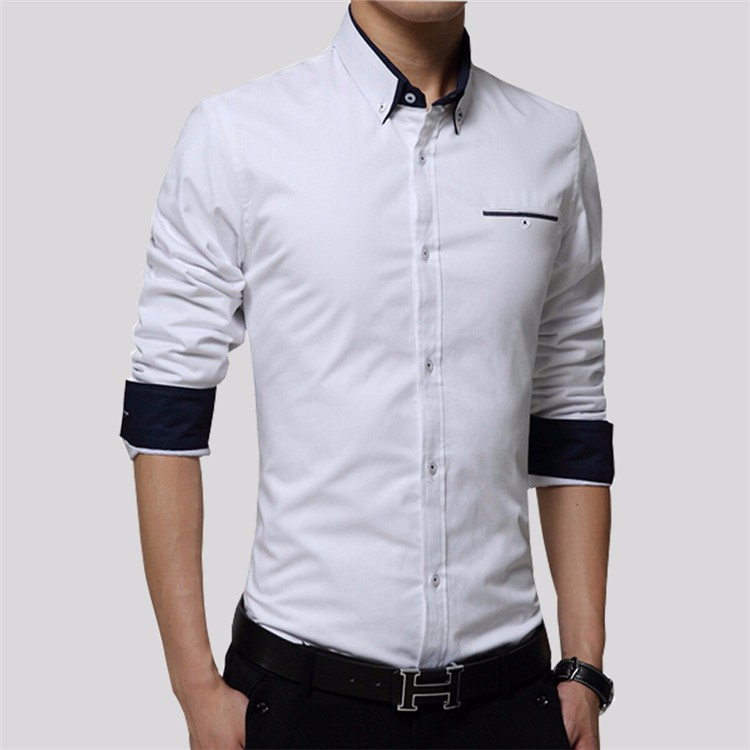 VISADA JAUNA New Men Long Sleeve Shirts