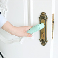 Шт. 2 шт. силиконовая Дверная ручка Защитная крышка Анти-столкновение дверная ручка Накладка Чехлы Детская безопасность защита принадлежно...