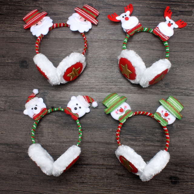 christmas headband red antlers santa claus snowman cute bear head buckle christmas gifts ornaments adult children