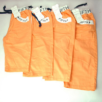 One lot new 2015 Children summer kid boy casual orange pleated short pants trousers zipper pocket shorts drawers (MH-3705O)
