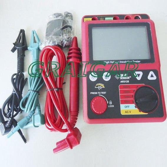 Smart Сенсор 500 В 5000 В, 0.0 1000 г Ом, Напряжение тестер изоляции AR3125