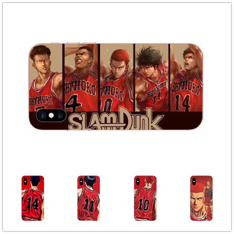 Japanese cartoon Slam Dunk master TPU  for iPhone 8 7 6 6s 5s plus X cell phone cover.Soft silicone