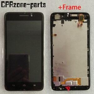 """Image 1 - 5.0 """"preto com moldura para huawei ascend g620s display lcd com tela de toque digitador sensor montagem do painel frete grátis"""