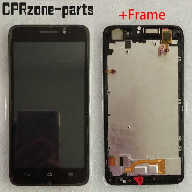 """5.0 """"preto com moldura para huawei ascend g620s display lcd com tela de toque digitador sensor montagem do painel frete grátis"""