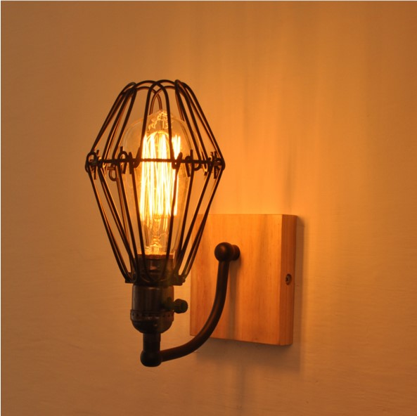 Wooden Retro Loft Industrial Vintage Wall Lamp Indoor Lighting Fixtures Edison Wall Sconce Arandela Apliques Pared Wandlamp idilio idilio l 08