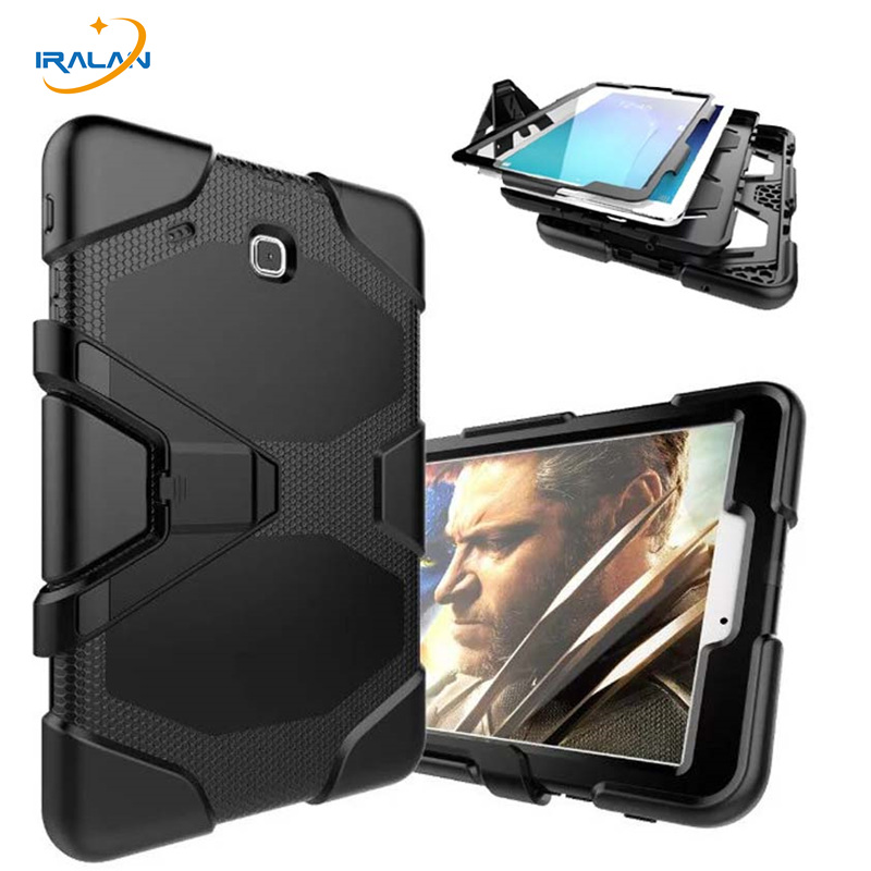 цена на New Fashion Shockproof Hard Case For Samsung Galaxy Tab E 9.6 T560 T561 Military Heavy Duty Silicone Rugged Stand Cover+film+pen