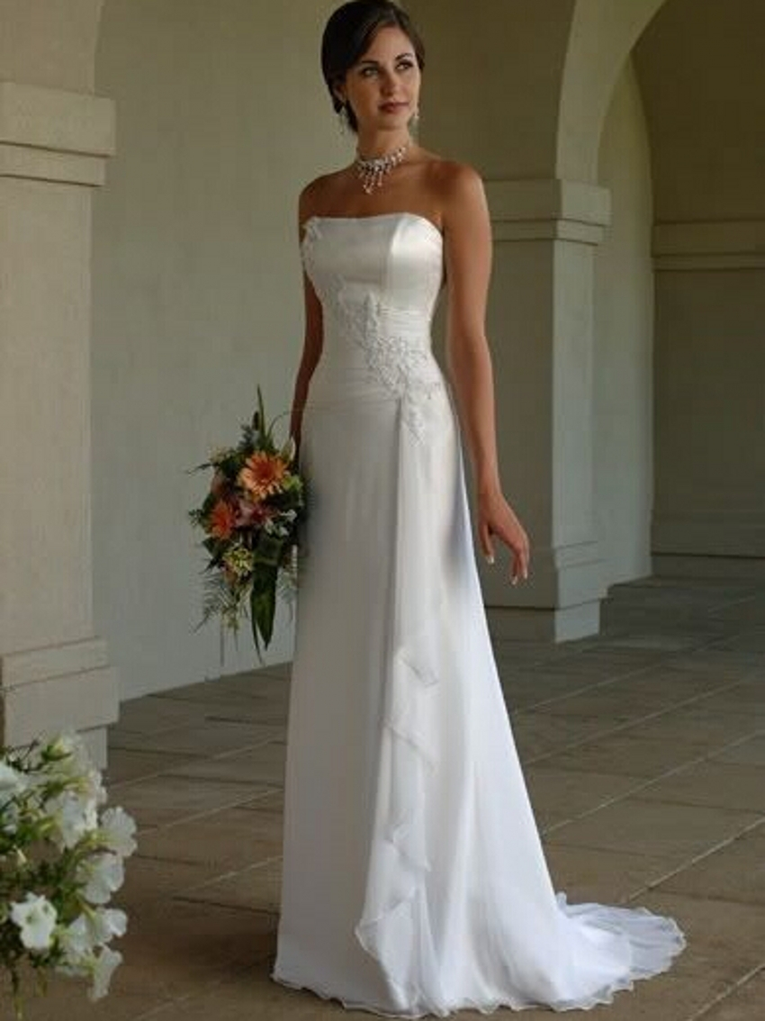 Popular Satin Strapless Wedding Dress-Buy Cheap Satin Strapless ...