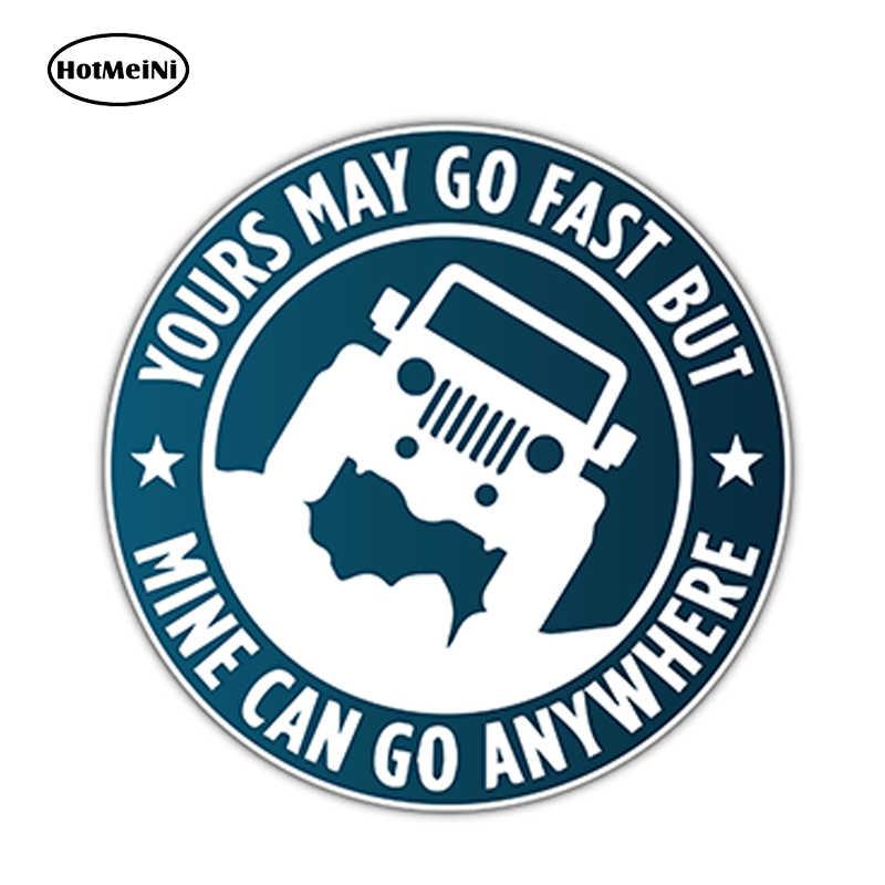 """HotMeiNi Araba Aksesuarları 4.6 """"X 4.6"""" herhangi bir Yere Gidebilir SUV 4X4 Araba Tampon Pencere Vinil Çıkartması 3D Sticker Su Geçirmez JDM art sticker"""