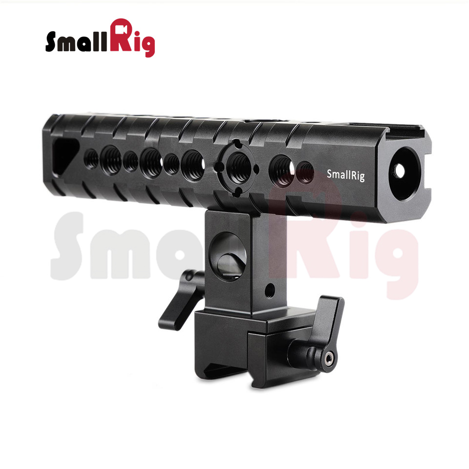 SmallRig Camera Hand Grip Quick Release Cheese Rotatable Handle with Nato Clamp and 15mm Rod Clamp -1649