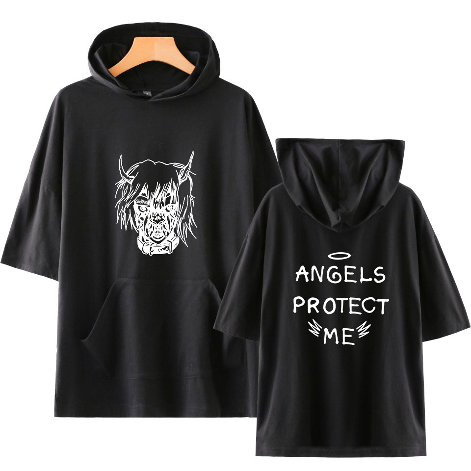 Lil Peep Harajuku Short Sleeve Cool And Fashion Hoodies Sweatshirts Women/men Clothes Hip Hop Casual Tops Print