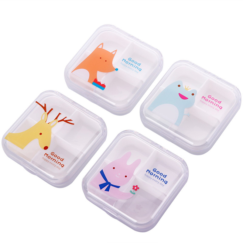 Medicine Box Case-Holder Cutter Pill-Case Travel Split Transparent 7-Day 4-Slots -289777