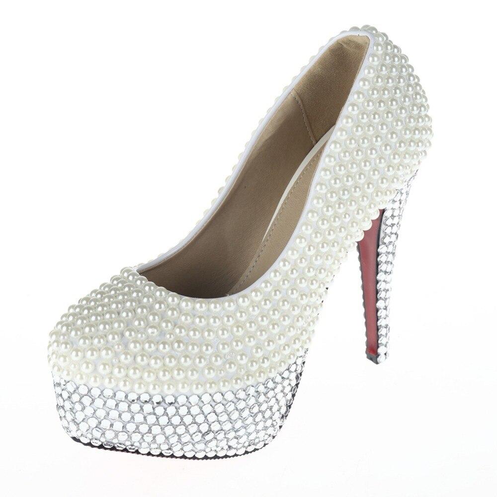 Women s Cute Short White Sparkly Rhinestone High Heels Stilettos for  Wedding fe5cbcdf116e
