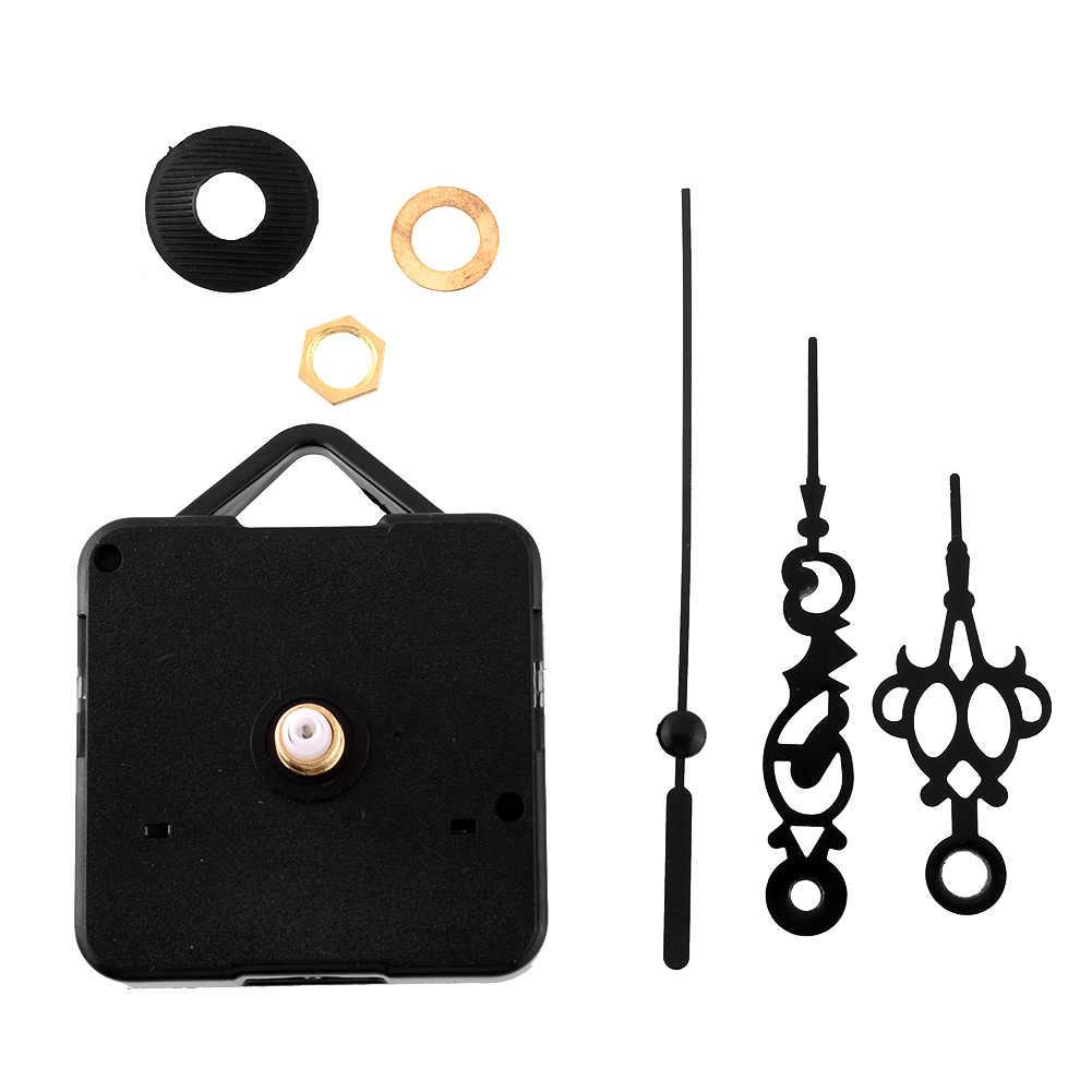 10x Black Hands DIY Quartz Clock Spindle Silent Movement Mechanism Repair  **