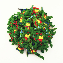 Wholesale 50pcs Random Mixed Ninja Turtle Shoe Decoration Shoe Charms fit Children Croc Shoes Accessories Birthday Party Gifts