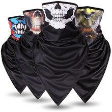 2019 Popular Skull Bandana Unisex Scarf Motorcycle Multifunctional Face Mask Triangle Magic Windproof Dustproof