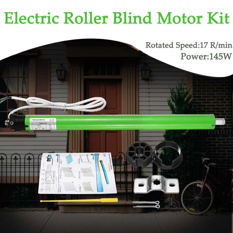 High Quality TM35S 220V Tubular Motor Roller Shade Electric Curtain Motorized Rolling Blind Shutter Anti-theft Window