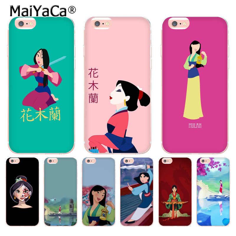 MaiYaCa мультфильм Мулан фильм Новое поступление Модный чехол для телефона чехол для iphone 8 7 6 6 S Plus X 10 5 5S SE 5C XS XR XSMAX