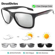 2019 Photochromic Polarized Sunglasses Men Car Driving Goggles Chameleon Sunglass Male Discoloration Glasses P003