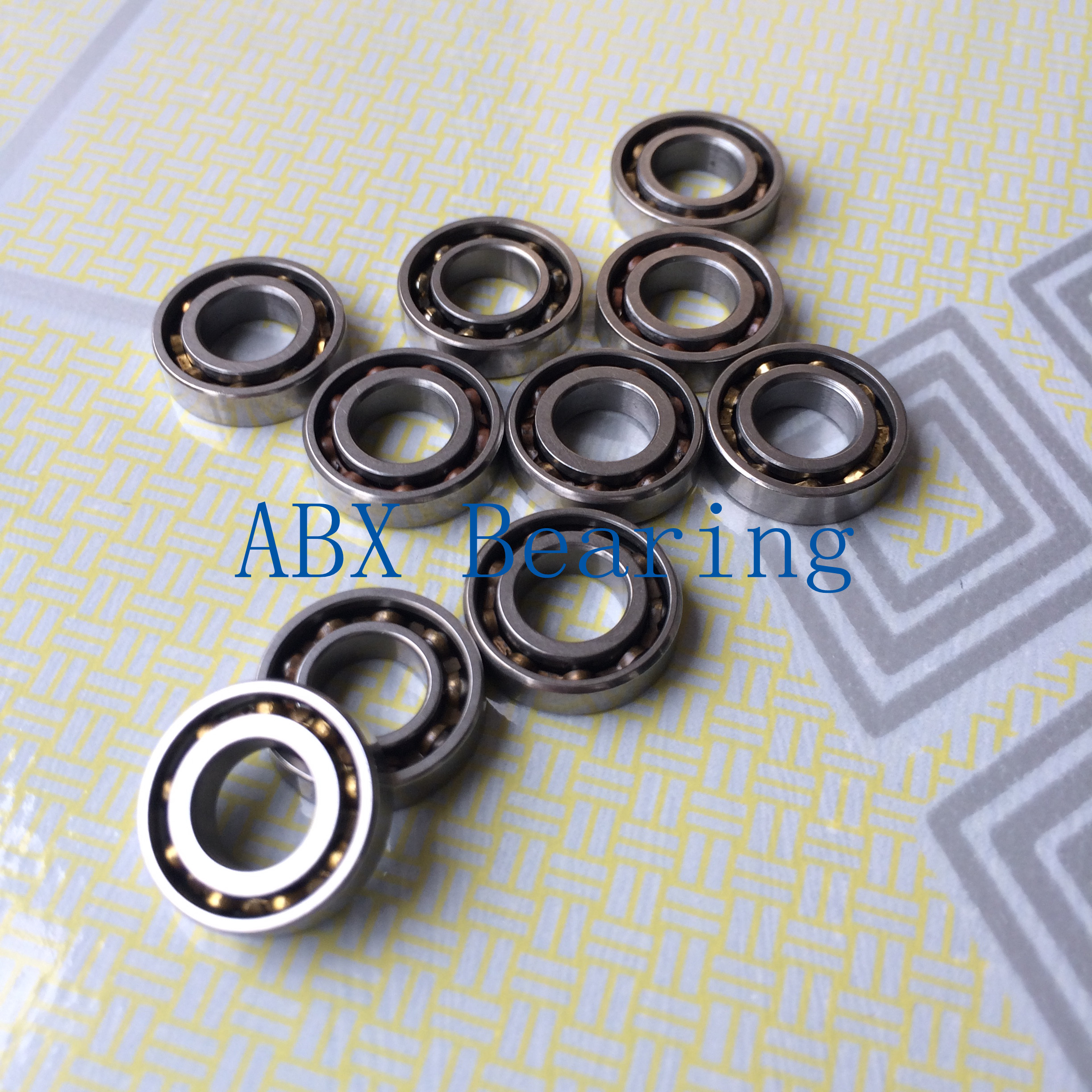 uxcell 10pcs 604-2RS 4mmx12mmx4mm Double Sealed Miniature Deep Groove Ball Bearing