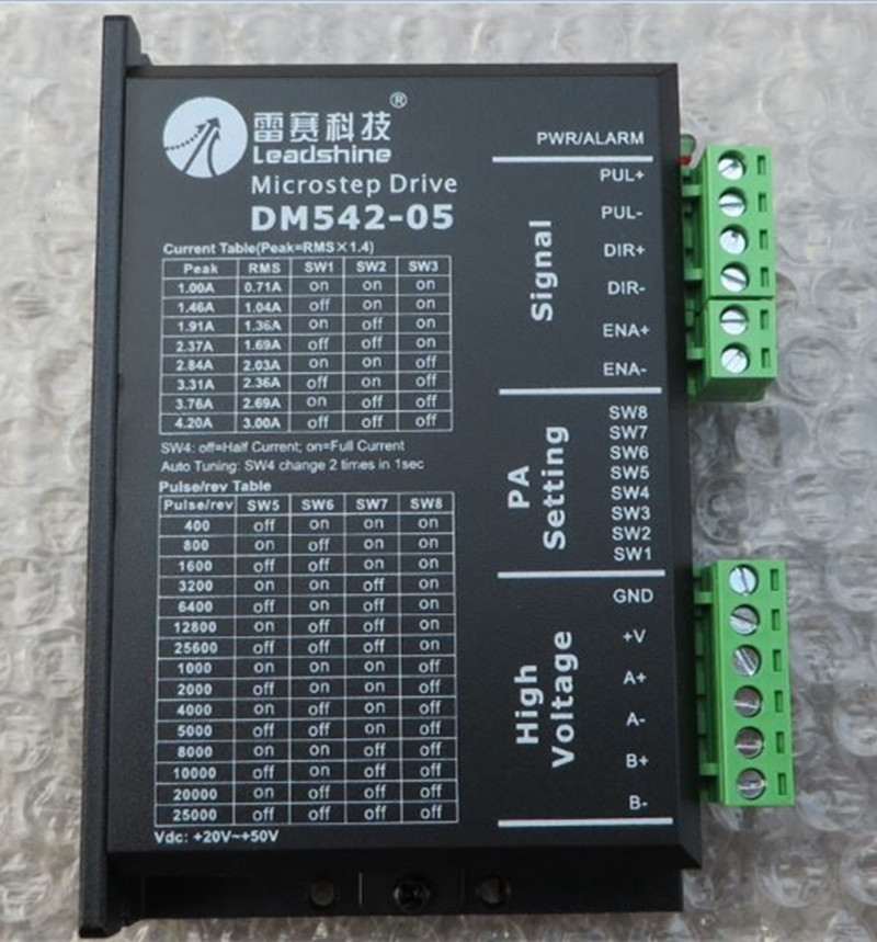 DM542-05 update M542-05 Leadshine NEMA17 NEMA23 2hpase stepper motor driver 36VDC 4.2A CNC Router leadshine 2 phase microstep driver m542 05 step motor driver 20v 50vdc 1 2a 5 04a for cnc router