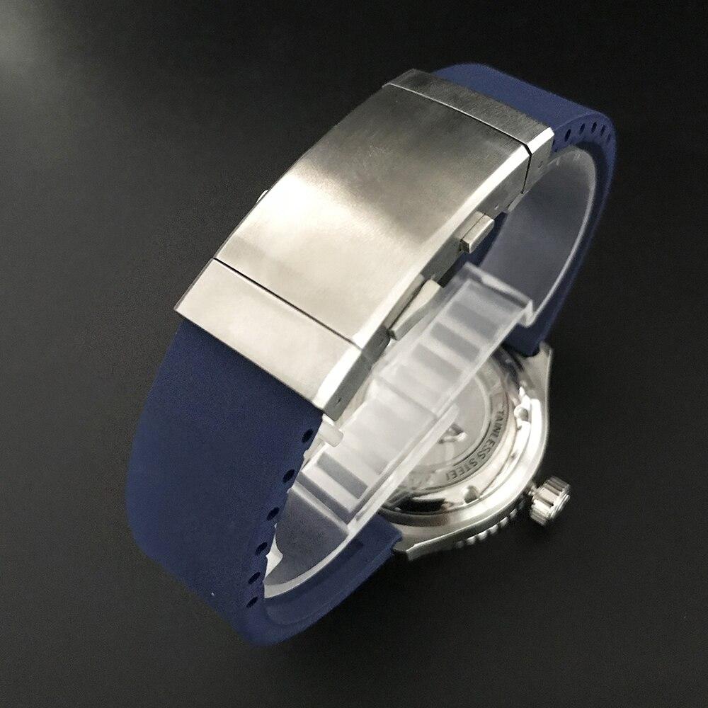 San Martin Nieuwe diver horloges rvs Automatische Horloge Voor Mannen NH35 beweging 200 mWater Slip saffierglas horloge-in Mechanische Horloges van Horloges op  Groep 3