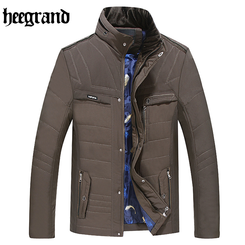 ФОТО HEE GRAND 2017 New Men Winter Coats Short Slim Male Clothing Coat Parkas Winter Jackets Overcoats Nordic Style For Men MWM1528