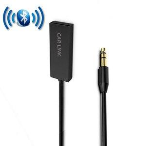 ihens5 U2 Mini Wireless Bluetooth Aux Handsfree Bluetooth Car kit Audio Adapter Aux USB to 3.5mm Jack with Mic for Car Speaker(China)