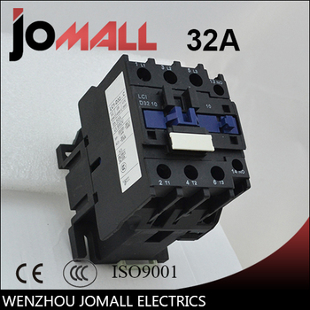 LC1-D32 32 amp black shell three phase four wires AC electrical Contactor dc contactor lc1d25 lc1 d25 lc1d25el lc1 d25el 48vdc lc1d25fl lc1 d25fl 110vdc