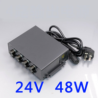 24V48W LED Power Controller 4 Channels Adjustable Brightness Machine Vision Lighting Power Adapter 3PIN 2 Interface|Industrial Lighting| |  -