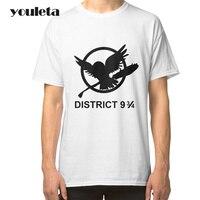 2018 elegante de alta calidad camiseta hombres juegos del hambre camiseta hombres marca Casual algodón camisetas ropa de hombre