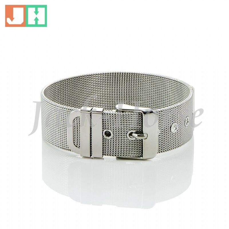 Livraison gratuite haute poli en acier inoxydable de mode date bande type  bracelet bijoux ceinture bracelet femmes 1b275c43067