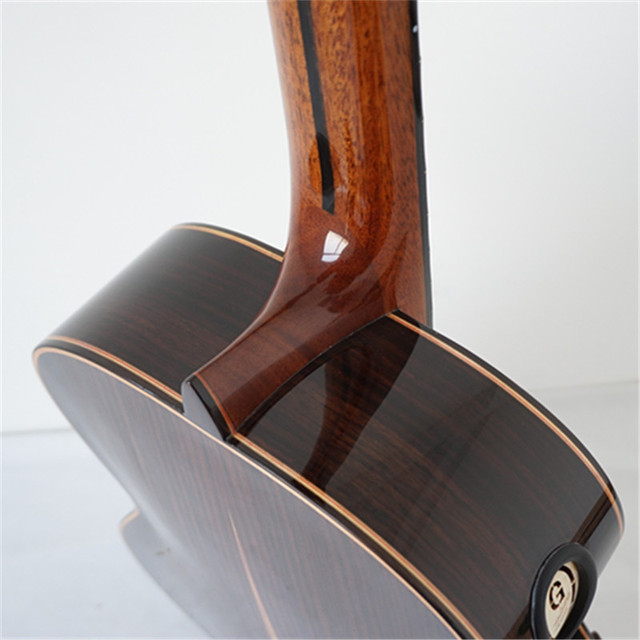 Aiersi Yulong Guo Professional Chamber Nomex Double Top Classical Guitar Model  GC02A 4