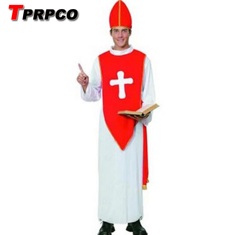 TPRPCO Men's play Pope priest costumes masquerade Christmas witch costume NL125