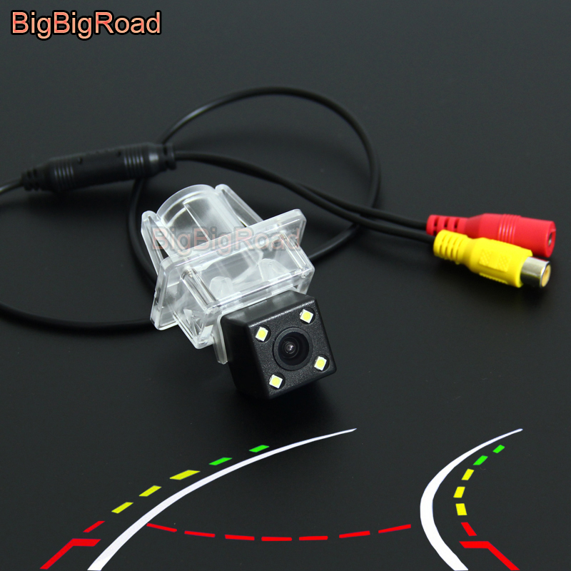 BigBigRoad Car Intelligent Dynamic Tracks Rear View CCD Camera For Mercedes <font><b>Benz</b></font> E series W212 W213 W207 C207 <font><b>SLK</b></font> SLC Class <font><b>R172</b></font> image
