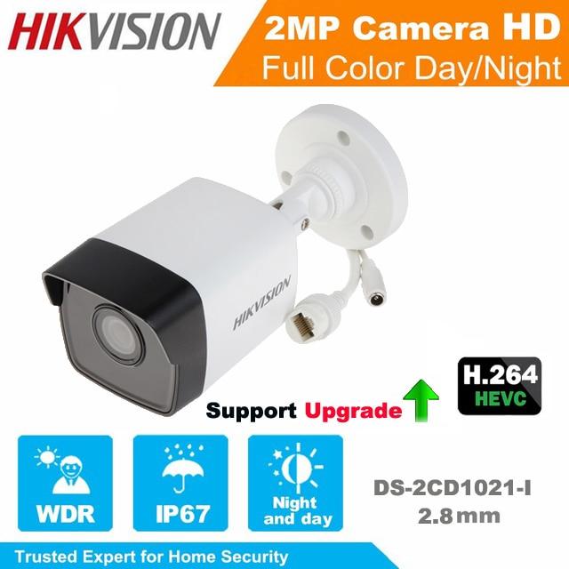 Hikvision English Version IP Camera DS-2CD1021-I 2MP Bullet Security Network IP Camera IR POE cctv camera Support Upgrade
