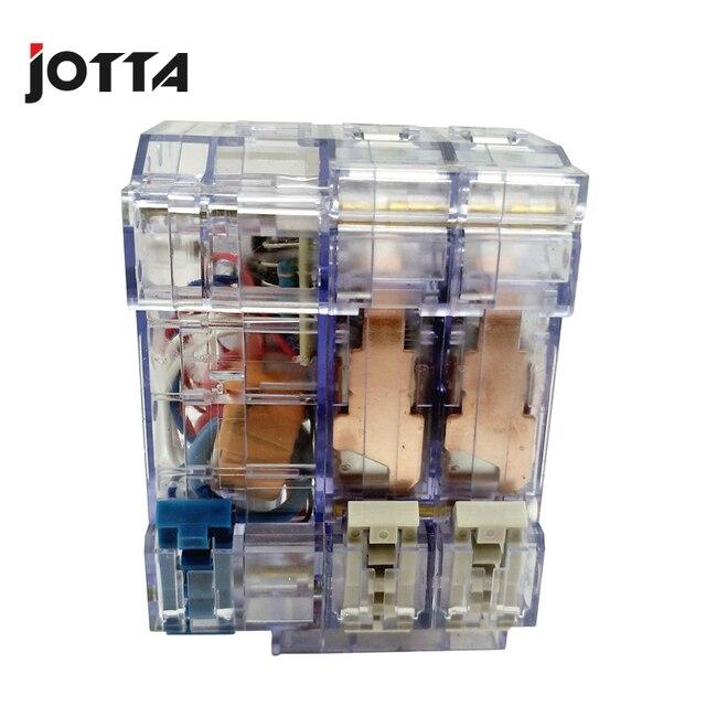 DZ47LE 10A 16A 20A 25A 32A 40A 50A 63A 2 Pole Transparante Aardlekschakelaar Aardlekschakelaar Elcb Aardlekautomaat