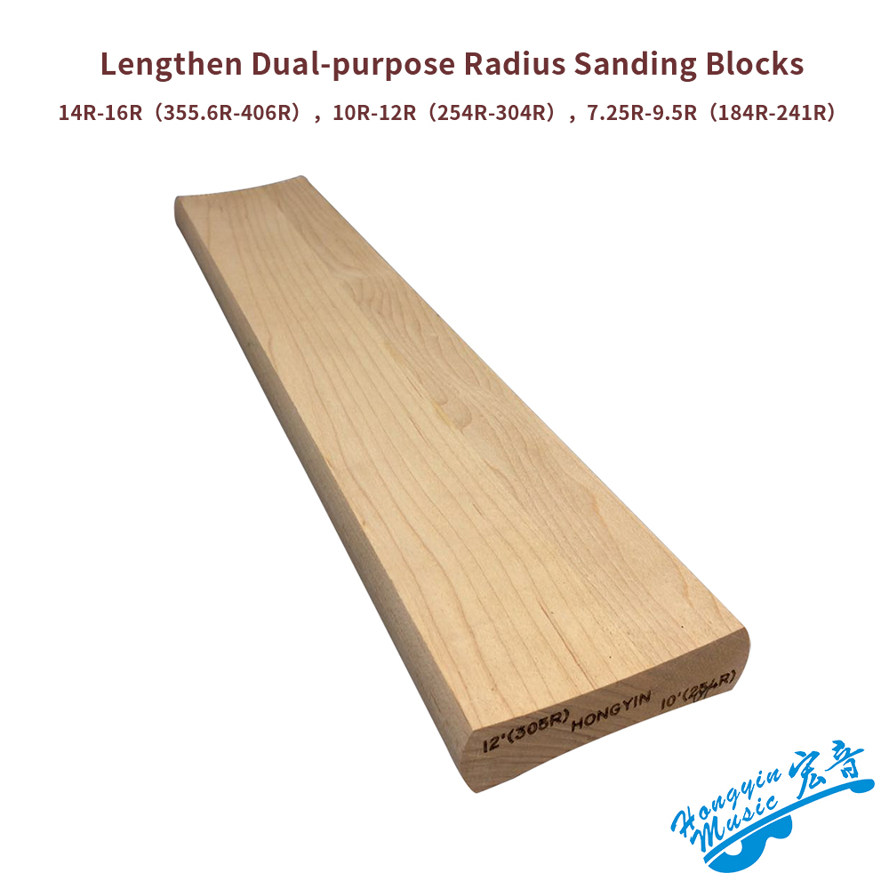 2 Radius Sanding Blocks 7.25&9.5, 10&12, 14&16 For Guitar Bass Fret Leveling Fingerboard Luthier Tool Lengthen 40cm*7.5cm
