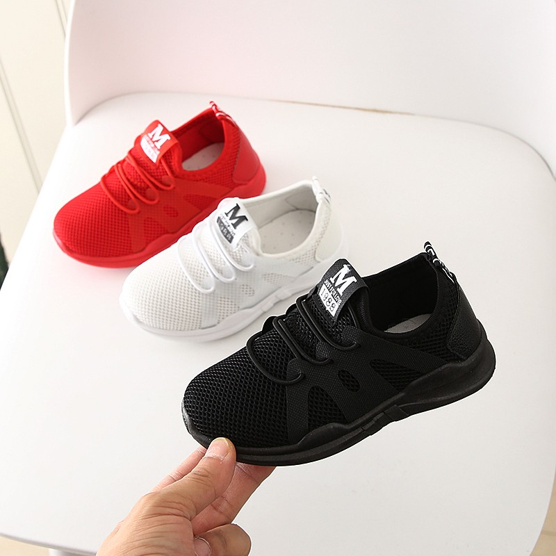 2019 NEW HOT Fashion Cute Newborn Infant Baby   Children's Boys And Girls Alphabet Mesh Casual Running Shoes Sneakers A1