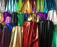 150 см * 50 см Танцы этап Блестящий синтетическая эластичная ткань-лайкра бронзировать специальные свадебные костюмной ткани DIY костюм для сцены, косплея, платье