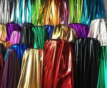 150cm*50cm dance stage Shiny Lycra spandex fabric bronzing special wedding costume fabric DIY stage cosplay costume Dress