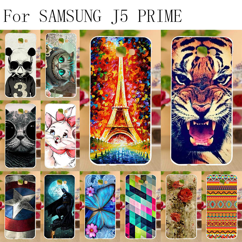 Anunob Phone Case For Samsung Galaxy J5 Prime Cover On5 2016 Covers Silicone Funda G570F