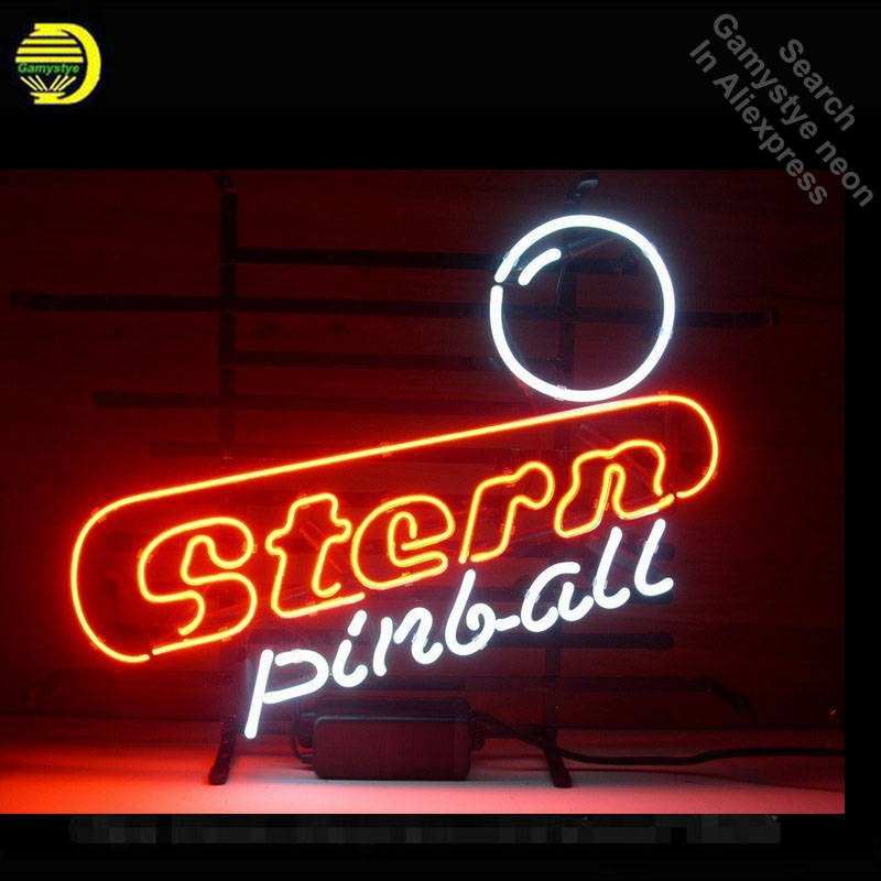 Neon Sign for Stern Pinball Neon Bulb Sign Game Room Neon Tube Sign Commercial Light handcraft Publicidad Lamp Store Display VD