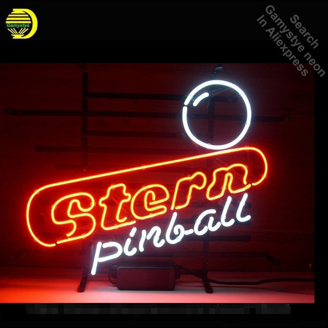 Stern Pinball Design NEON SIGN Beer Bar Pub Art Neon Bulbs Neon Light Glass Tube Signs Advertise Neon Recreation room VD 17x14
